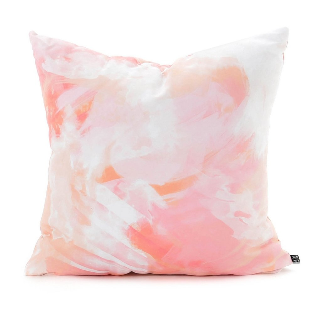Chelsea Victoria Flamingo Watercolor Throw Pillow - Deny Designs®