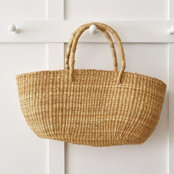 WOVEN GRASS DAY BAG