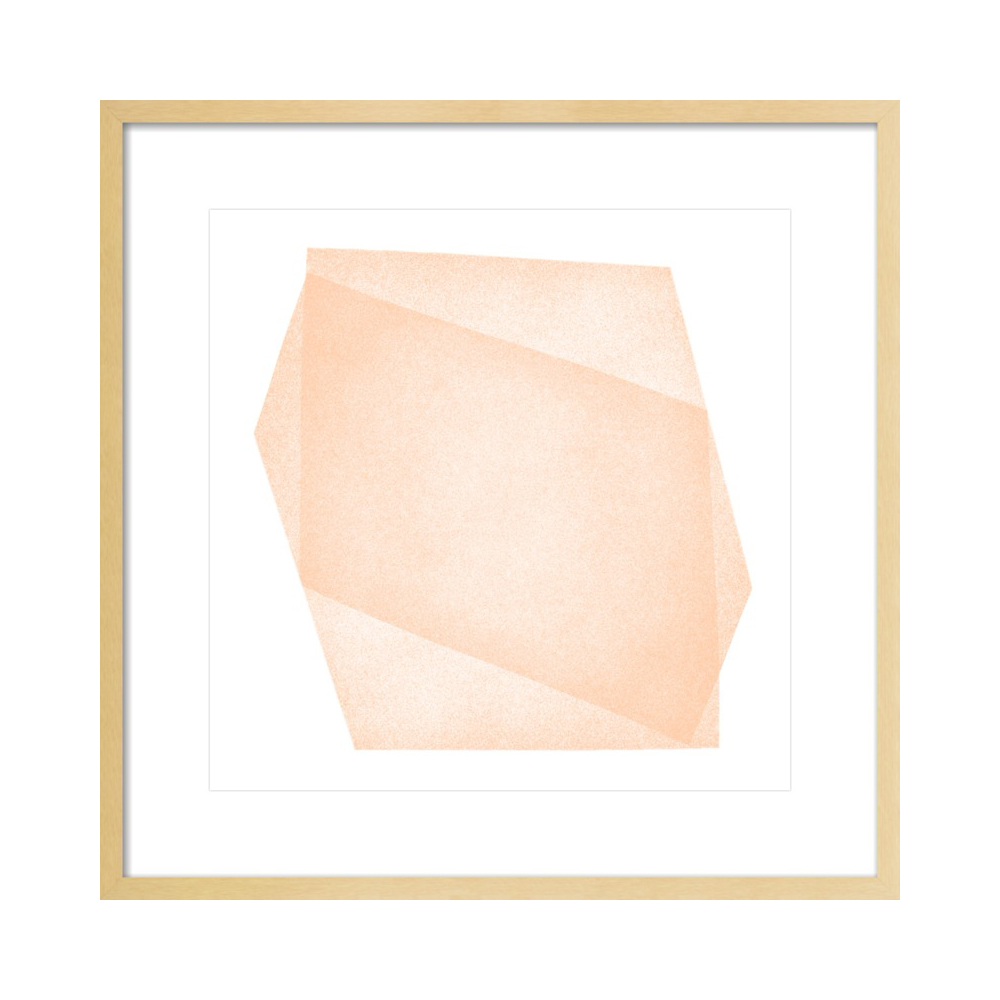 Pale Peach Structure: Soft Geometry  BY JESSICA POUNDSTONE