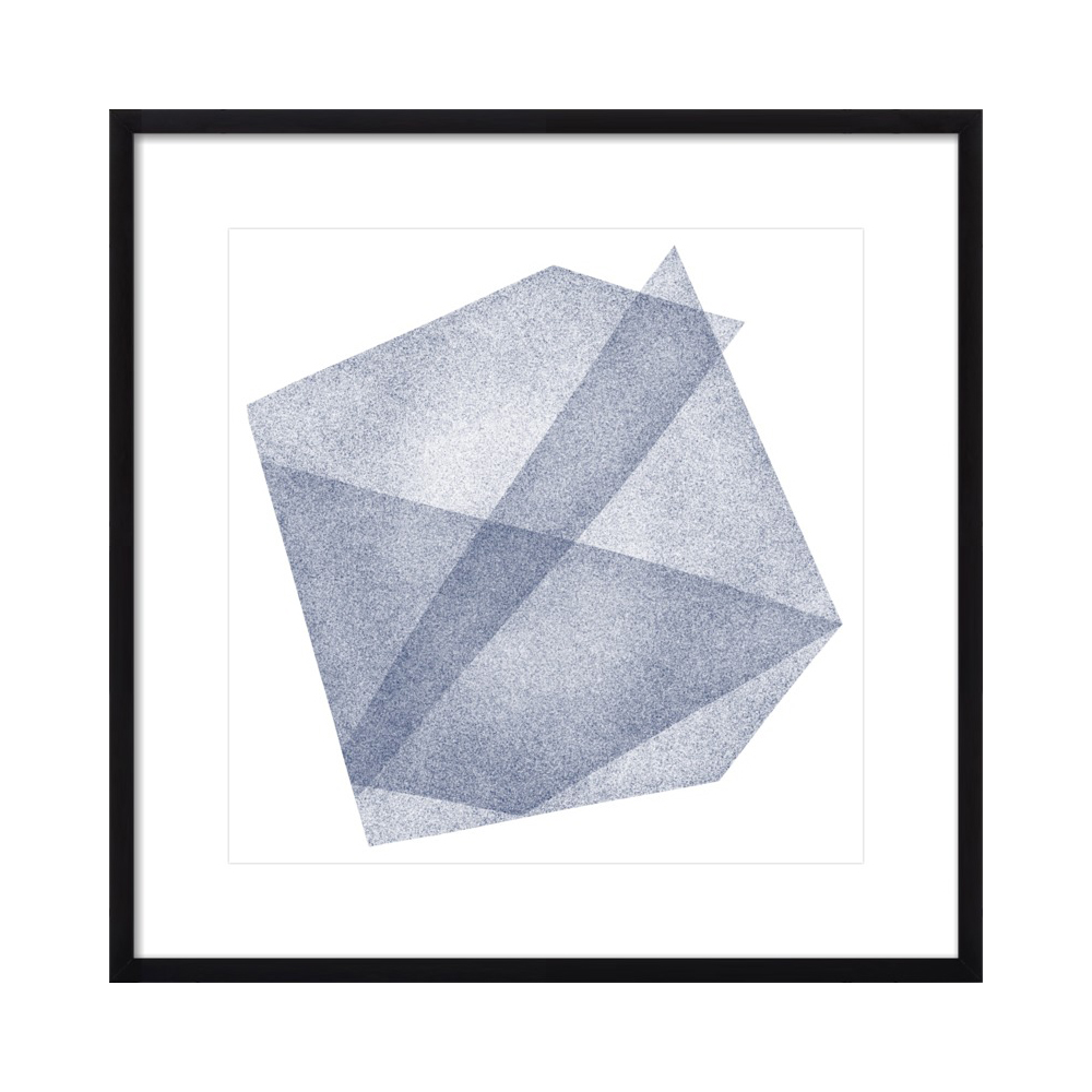 Navy Blue Structure: Soft Geometry  BY JESSICA POUNDSTONE