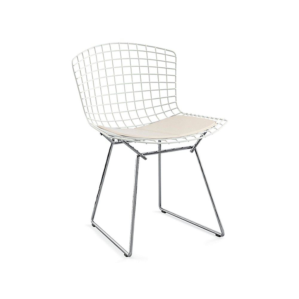 Bertoia Two-Tone Side Chair with Seat Pad