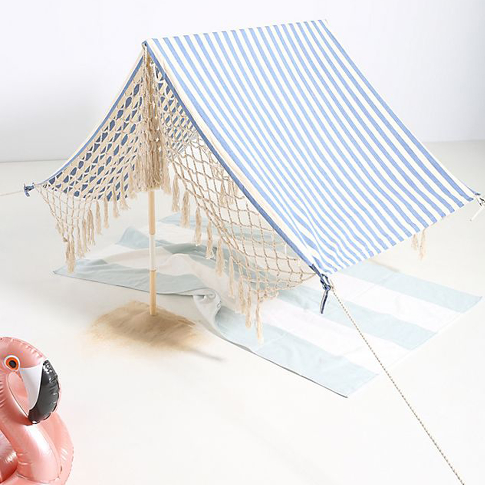 Striped Beach Tent