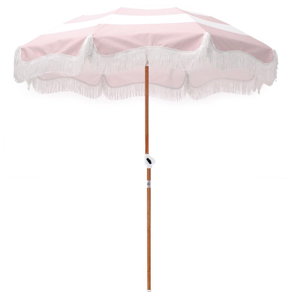 Pink Stripe Beach Umbrella