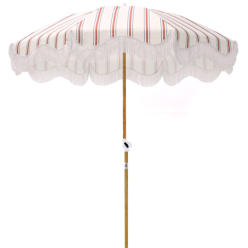 French Stripe Beach Umbrella