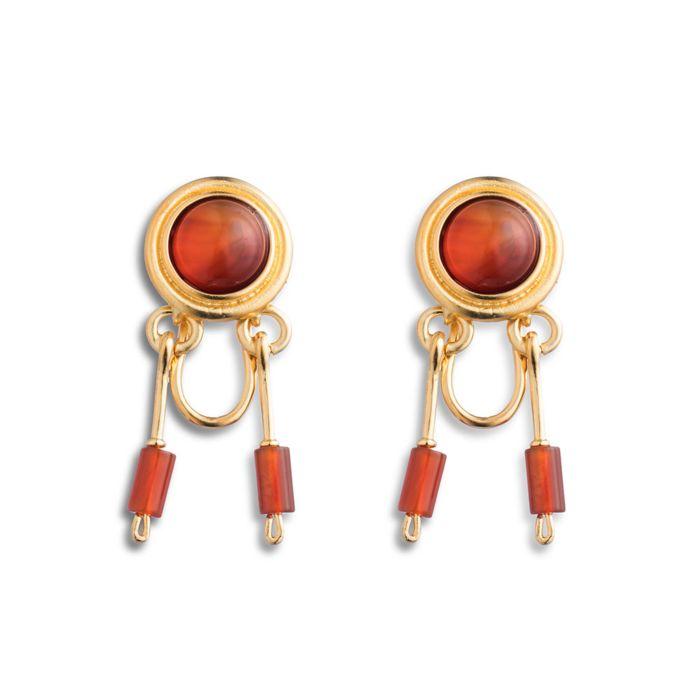 Roman Carnelian Drop Earrings