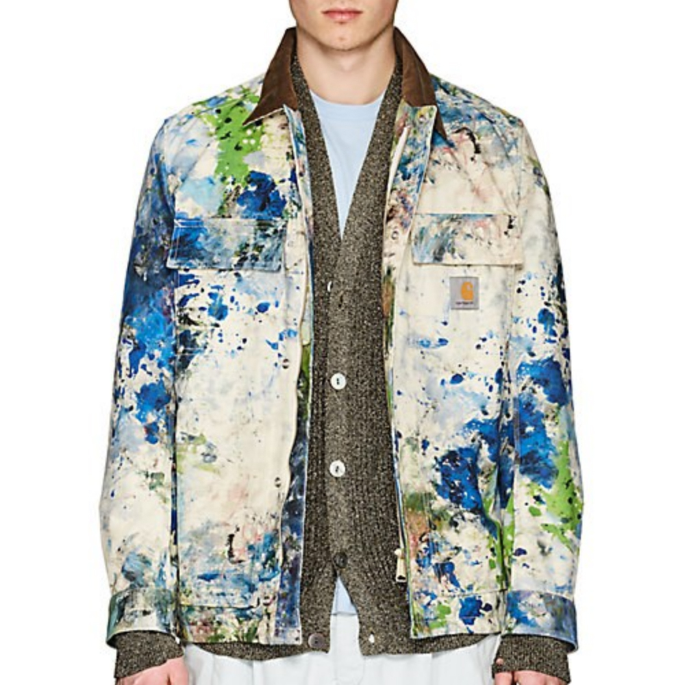 JUNYA WATANABE MAN COMME DES GARÇONS Paint Splatter Cotton Canvas Jacket
