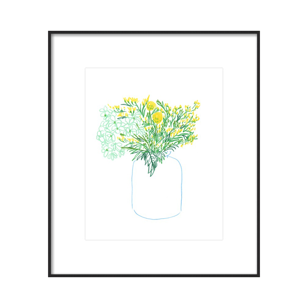 Vase with Yellow Flowers  BY LIANA JEGERS