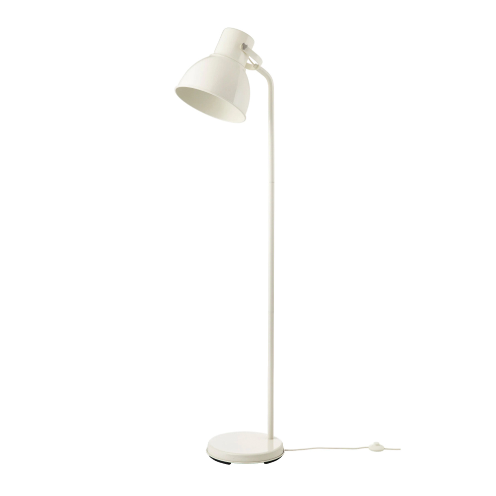 HEKTAR Floor lamp with LED bulb, $54.99
