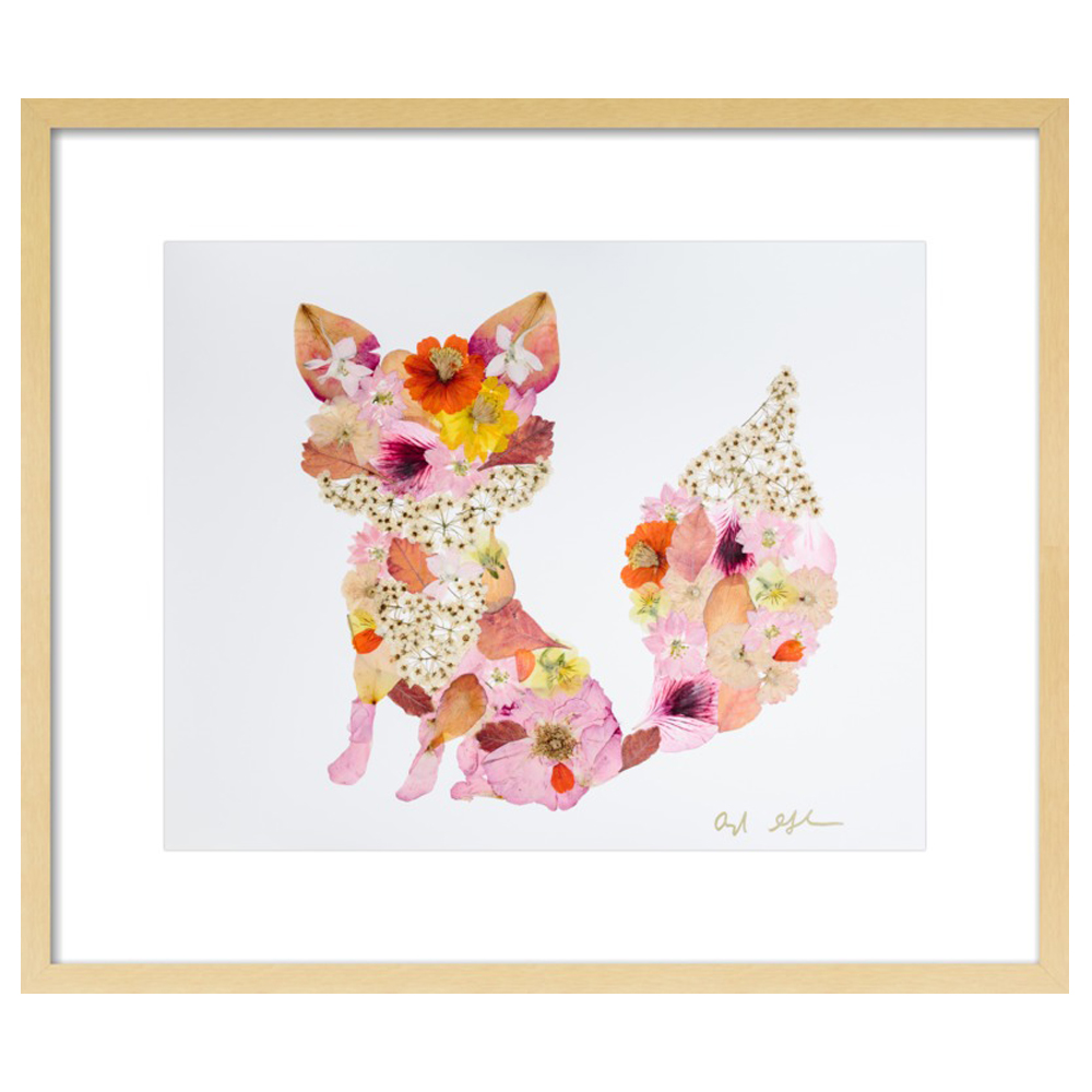 Pressed Flower Fox  BY AYLA GRAHAM