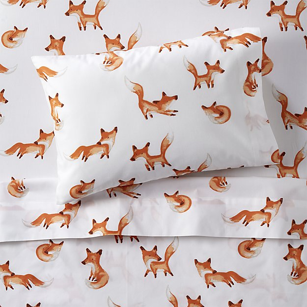 Organic Fox Toddler Sheet Set