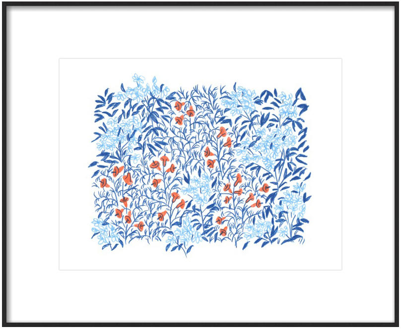 Inspired Pick:  Blue & Red Flora l BY  LIANA JEGERS