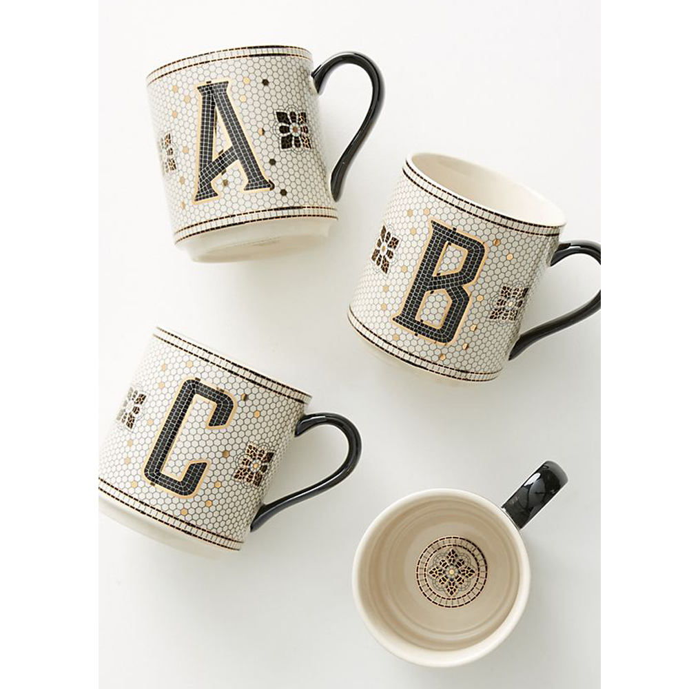 Tiled Margot Monogram Mug