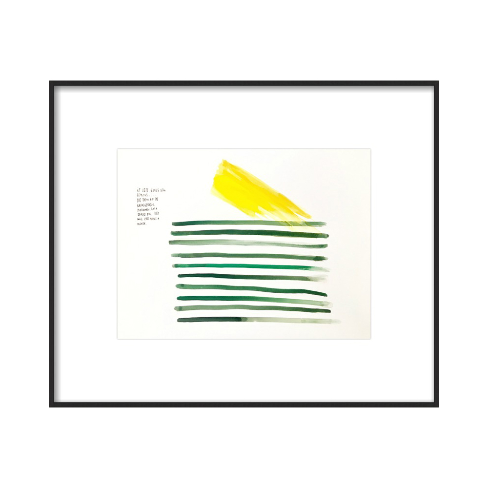lemon stripes  BY LESLIE WESTPHAL