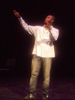 Shaun Redwood '07 performing in  He Speaks So Well  as a part of the Say Word! Hip Hop Theatre Festival at Lehigh University. 2005.