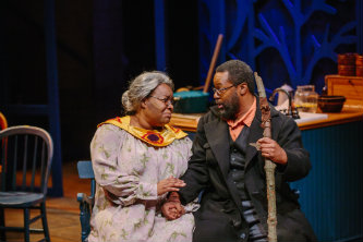 Playing the role of Aunt Ester in  Gem of the Ocean by August Wilson, with Dr. Darius Omar Williams in the role of Solly Two Kings.