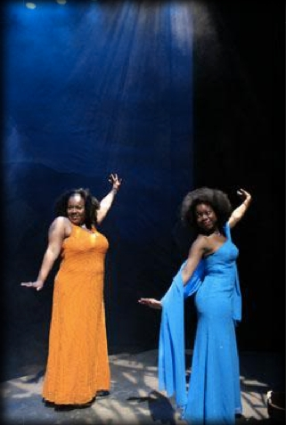 Saint Monica and  Mary Magdalene (Kimberly Alston) in   The Last Days of Judas Iscariot   by Stephen Adlly Guirgis.
