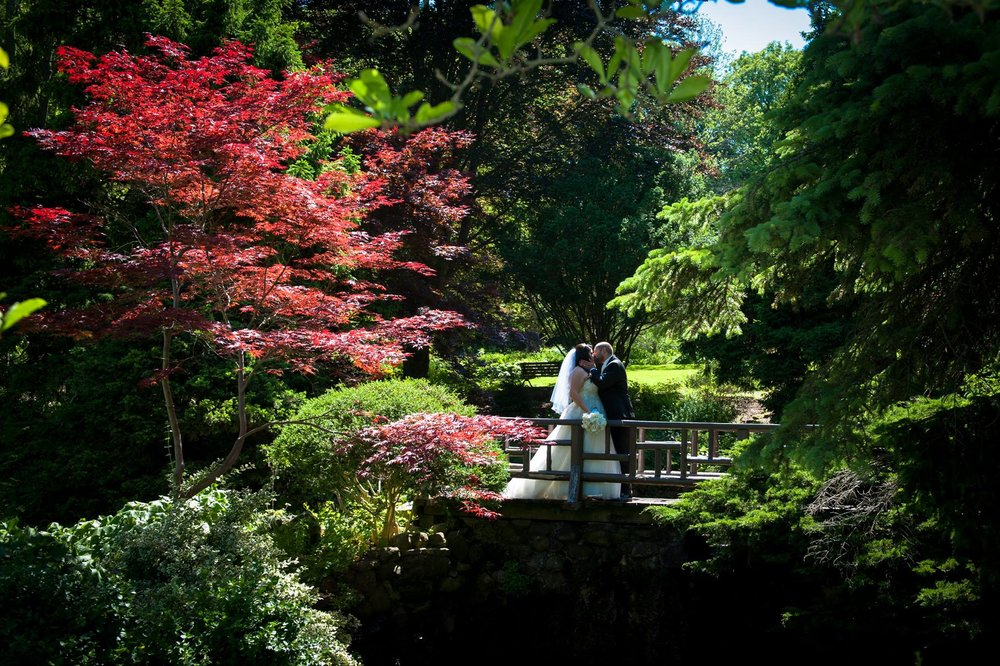 Bride and Groom at James Gardens