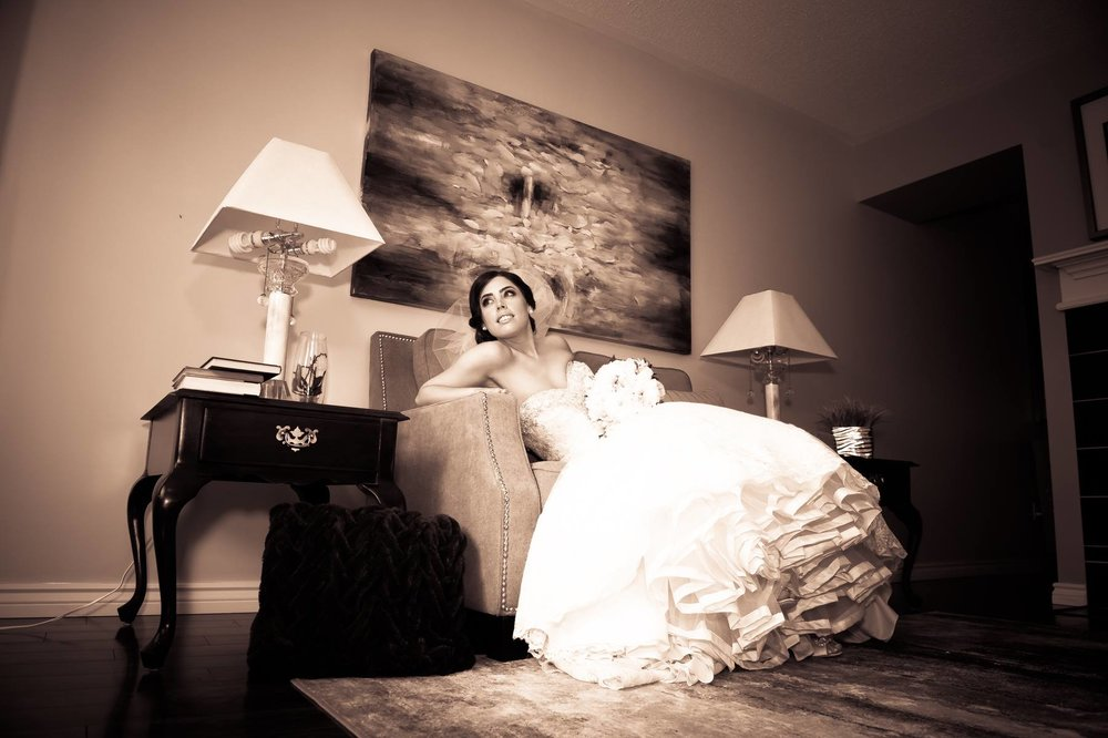 Bridal Portrait in Sepia