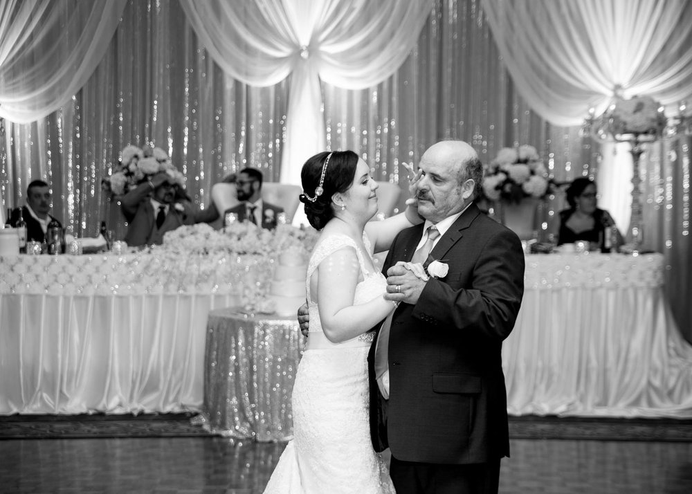 Bride and her papa