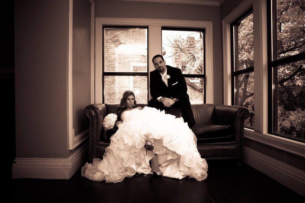 Hamilton indoor wedding photos Hess Village