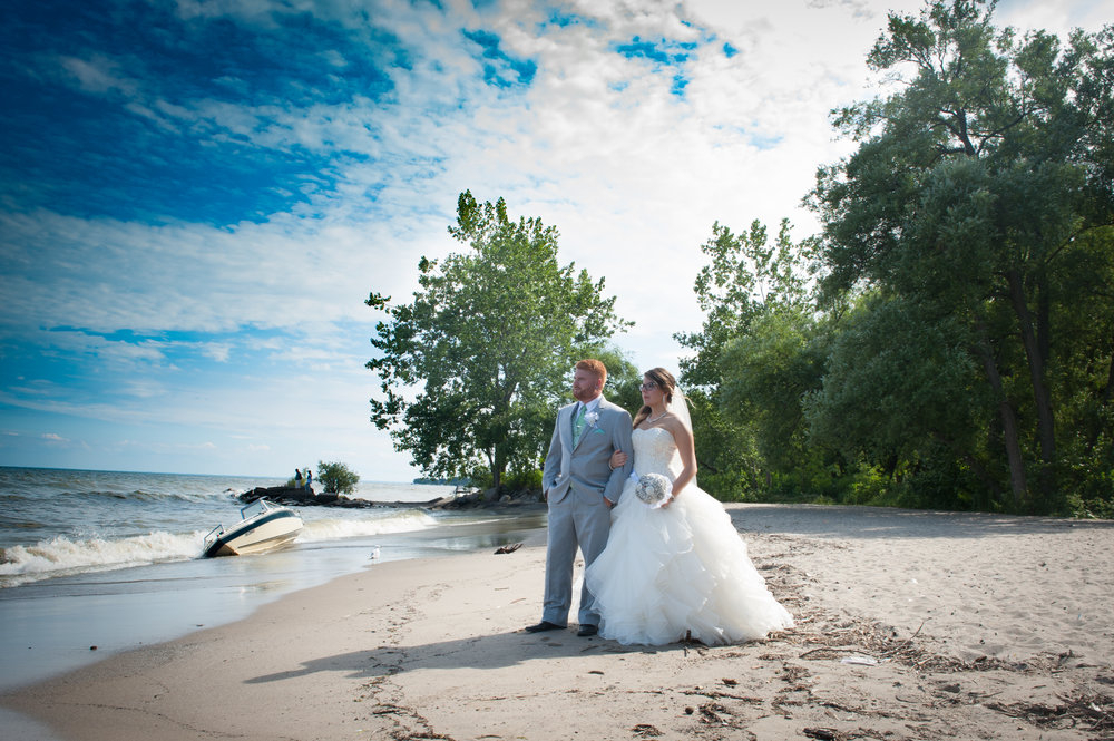 Mississauga bride and groom beach photos.
