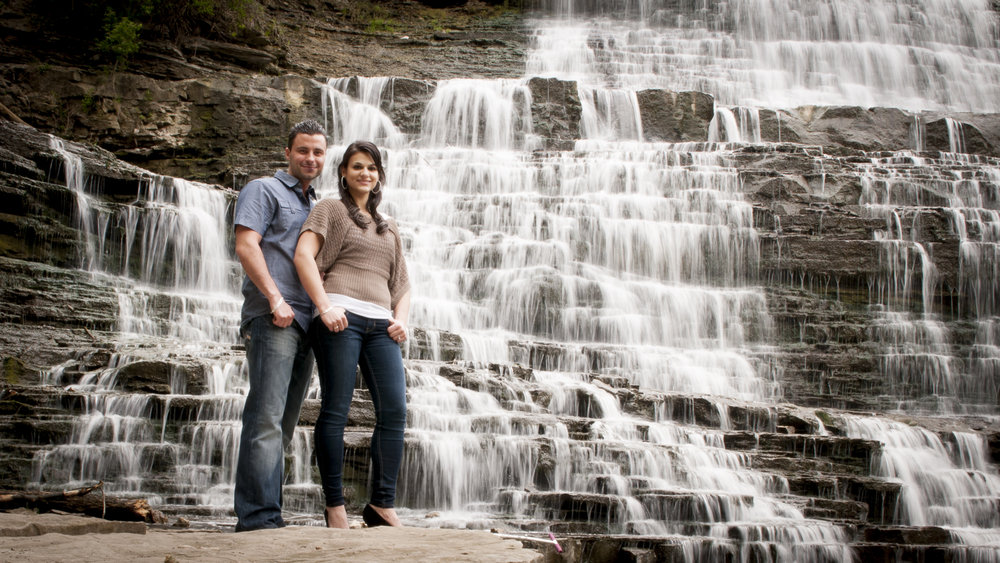 Albion Falls engagement photography
