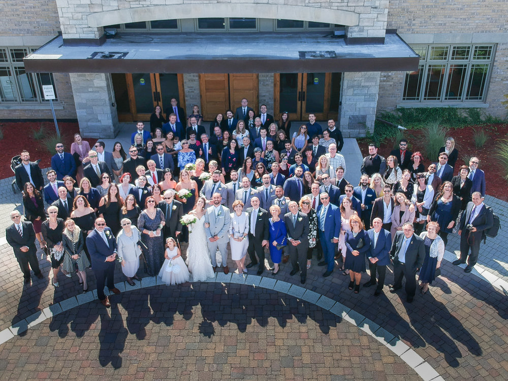 Mississauga Drone Wedding Group Photo