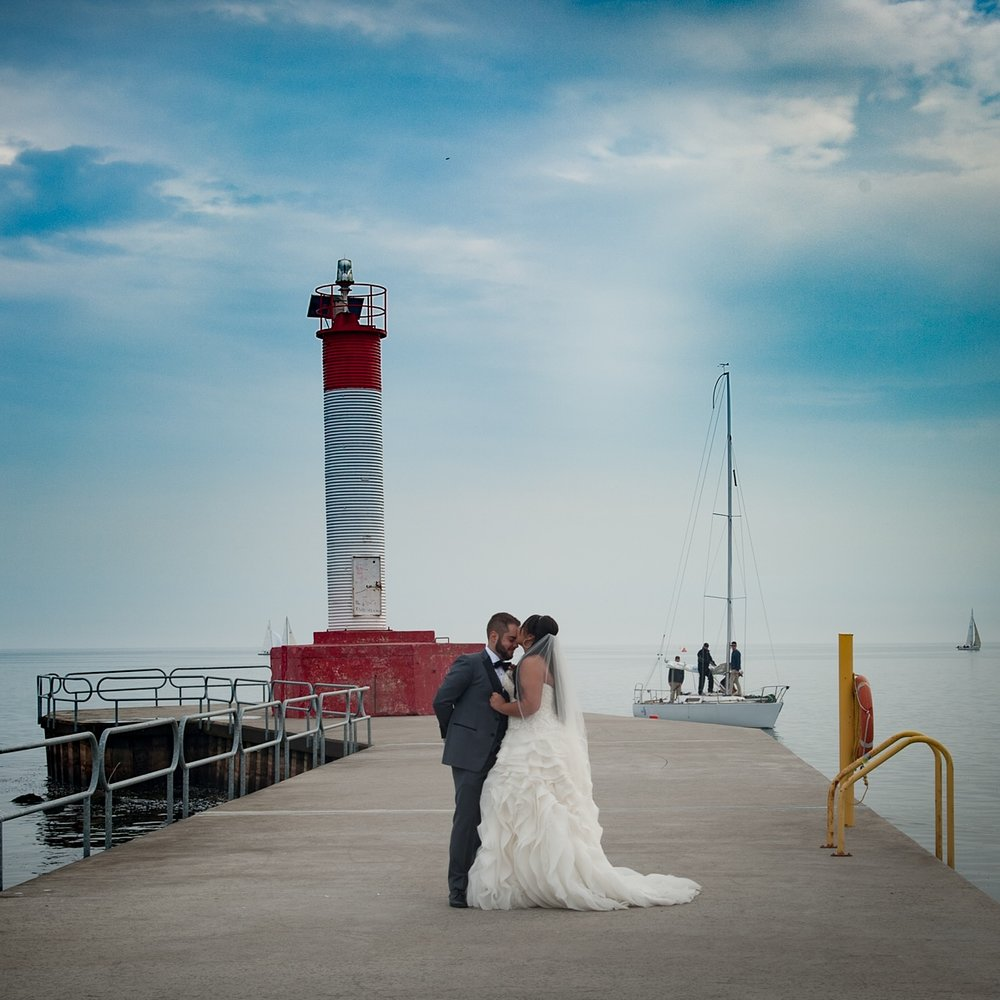 Lighthouse Bride and Groom