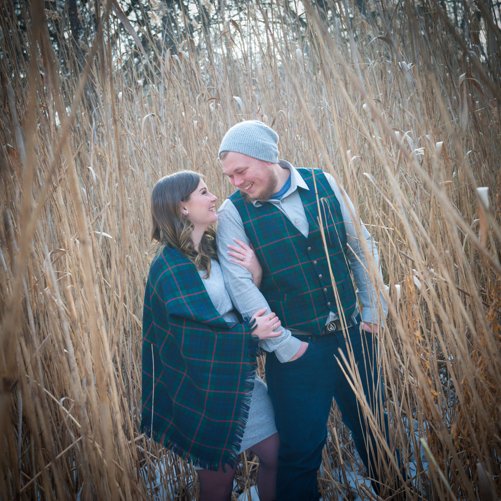 Toronto Engagement Winter shoot Mill Pond
