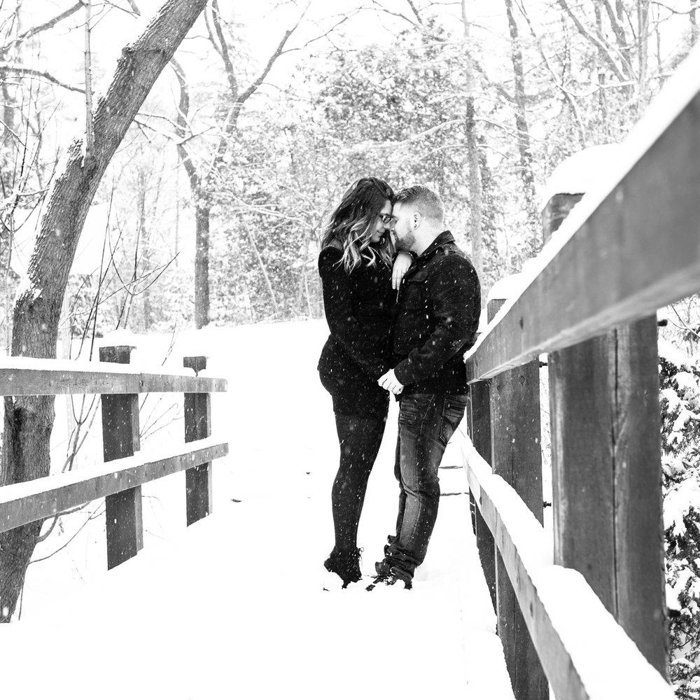 Winter Engagement shoot Richmond Hill