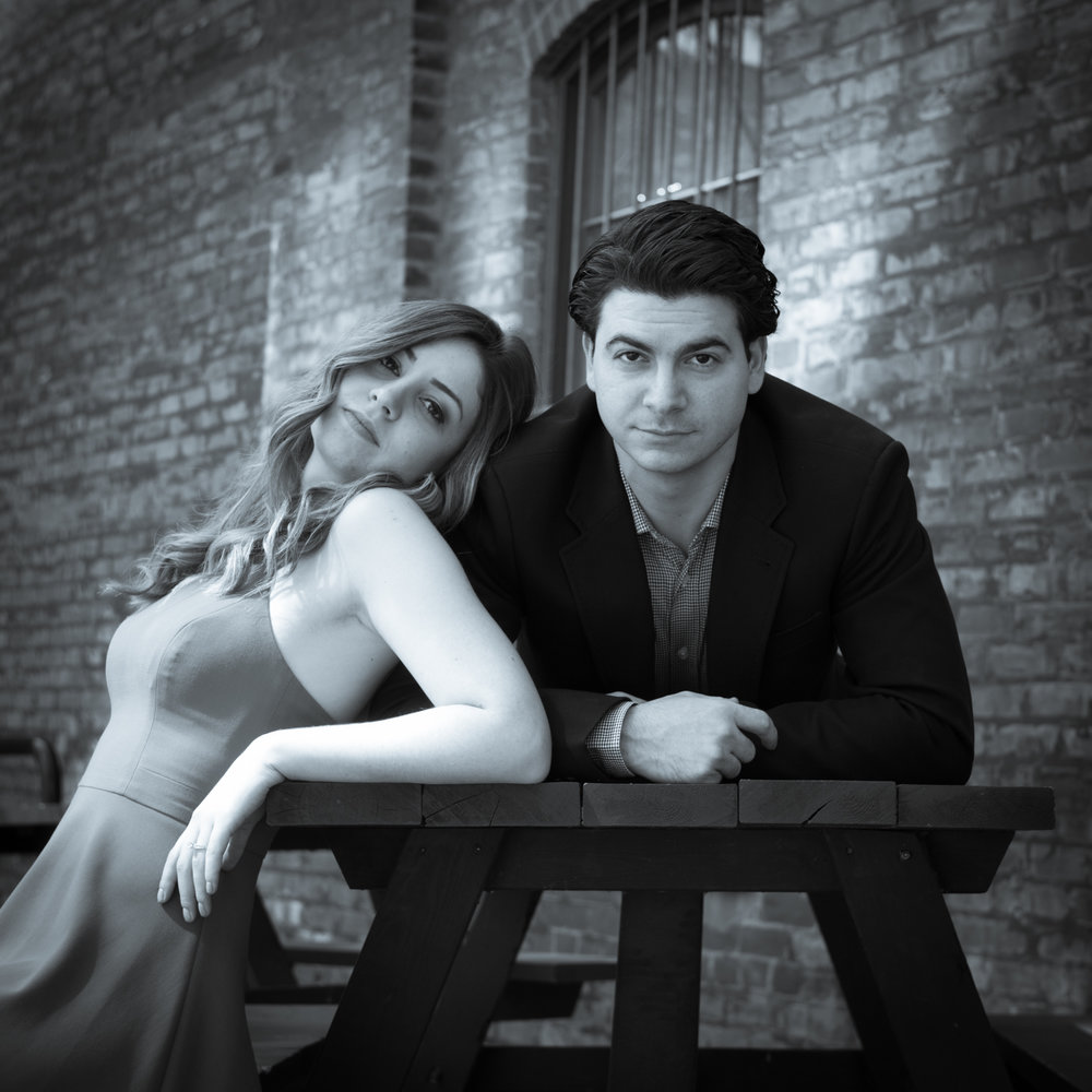 Distillery District Engagement Photo benches