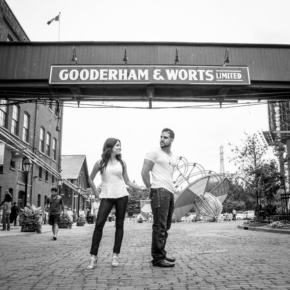 Toronto Distillery District Engagement Gooderham & Worts