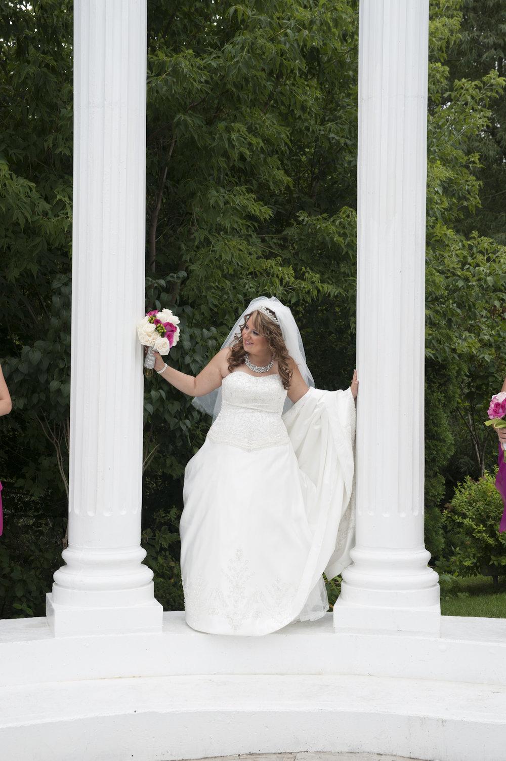 Paradise Banquet Hall Bride standing inside atrium