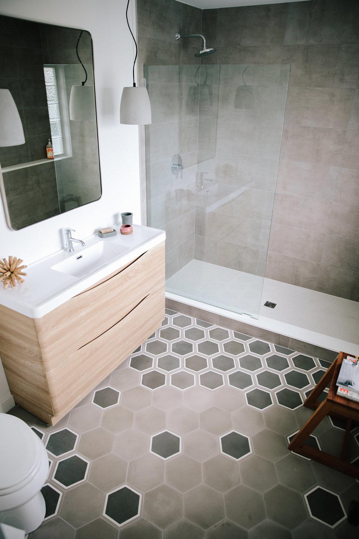 Modern Tile Install - Design by Modern Beach House
