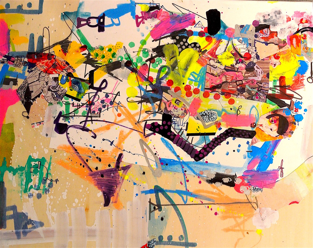 Michael Alan, Paintings on Wood, Patchwork, $3,400.jpg
