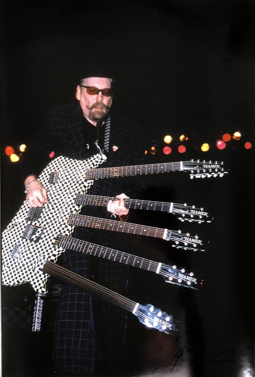 Rick Nielsen From Cheap Trick With 5 Guitar By Roberto Rabanne