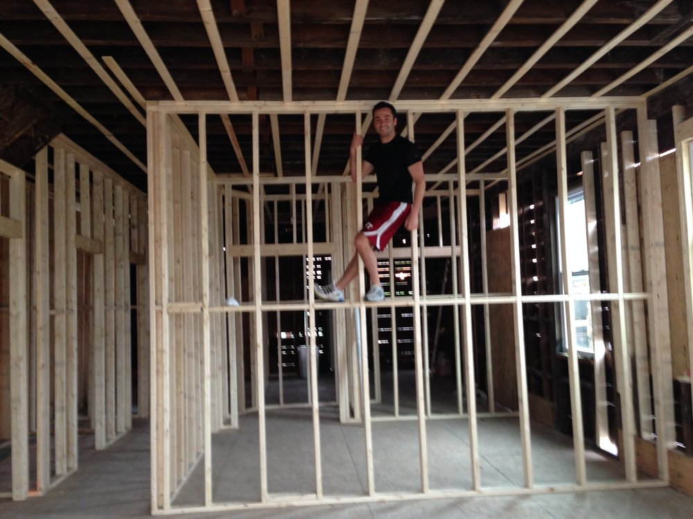 After gutting this house, we realized this home had hidden 10 foot ceilings on every floor of the house!