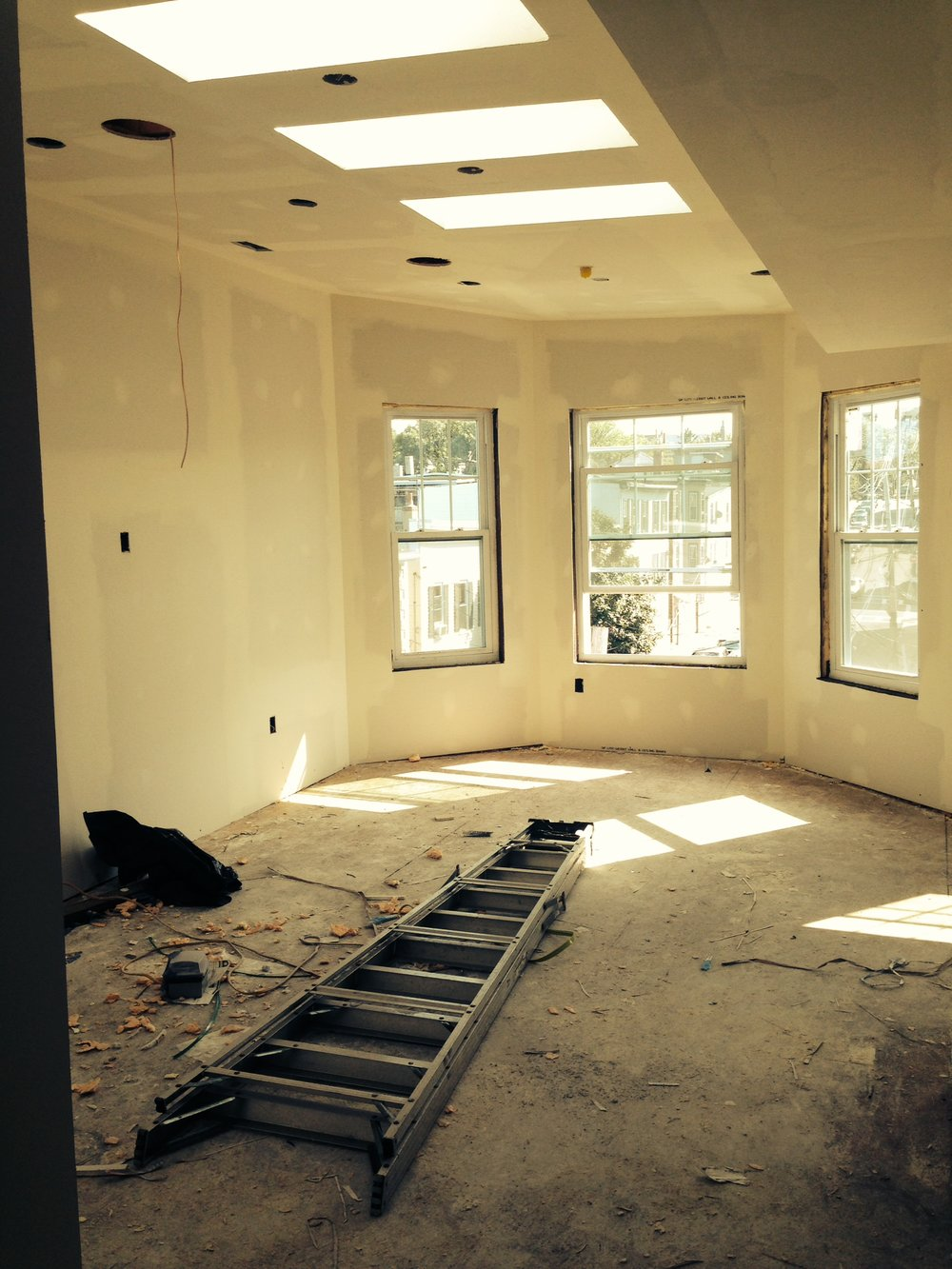 Putting up new drywall allows us to see our vision for a space become a reality.