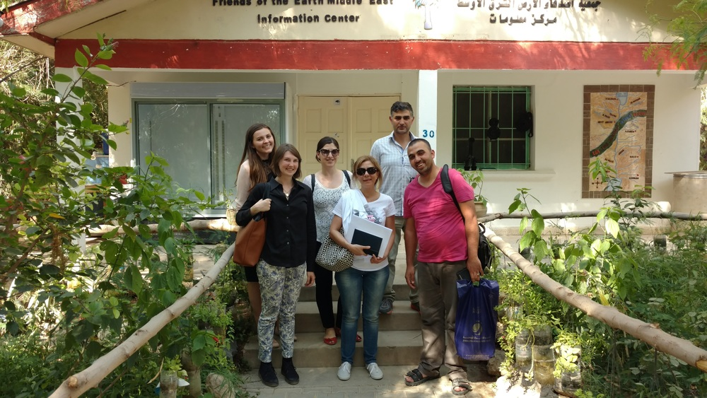 EcoPeace Staff at the Sharhabil bin Hassneh EcoPark in Jordan