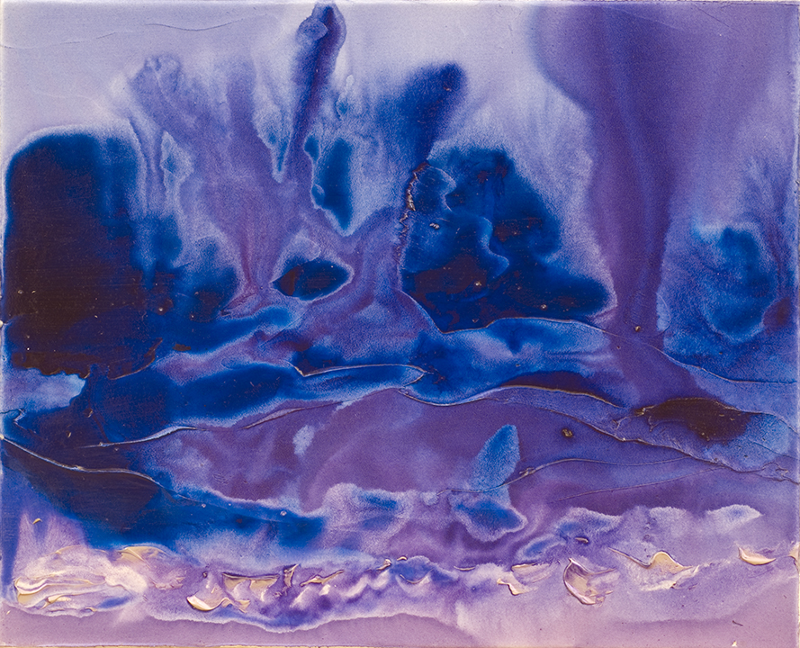 "DEEP PLUME, 2008, Acrylic on canvas, 16"" X 20"""