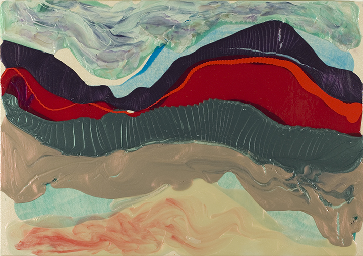 "FLAME MOUNTAIN 2007, Acrylic on canvas, 28"" x 41"""