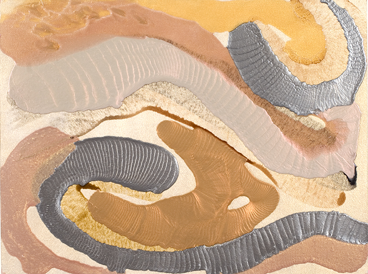 "SYMBIOSIS, 2007, Acrylic on canvas, 30"" x 43"""