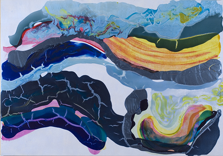 "SUBTERRANEAN FLOW, 2006, Acrylic on canvas, 53.5"" x 76 1/2"""