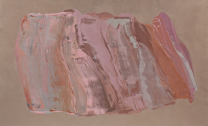"CLAYWORKS, 1982, A crylic on canvas , 68"" x 112"""