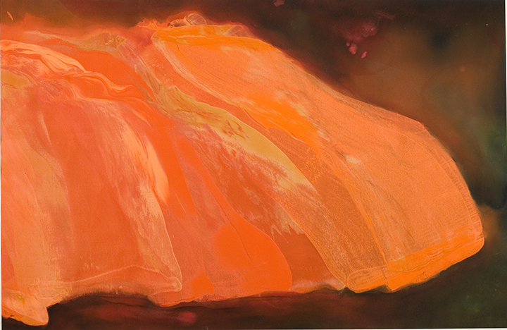 "FIRE ON THE MOUNTAIN, 1982, A crylic on canvas,   59.5"" x 89""5"""