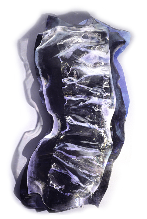"ASTREA, 1991, Acrylic on Lexan, 49"" x 24"" x 9"""