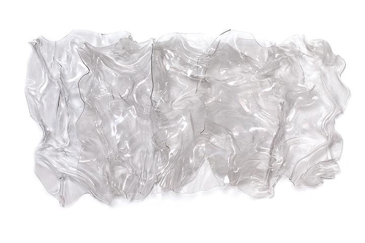 "LIQUID DIVINITY, 2013, Acrylic on Lexan, 35"" x 62"" x 13"""