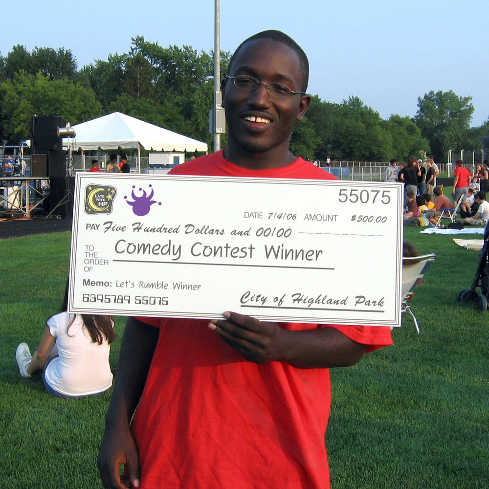 Comedian and actor  Hannibal Buress , the Emcee of the inaugural Bitter Jester Music Festival, July 4, 2006. Hannibal was the winner of our Comedy Competition that ran in 2006/2007.