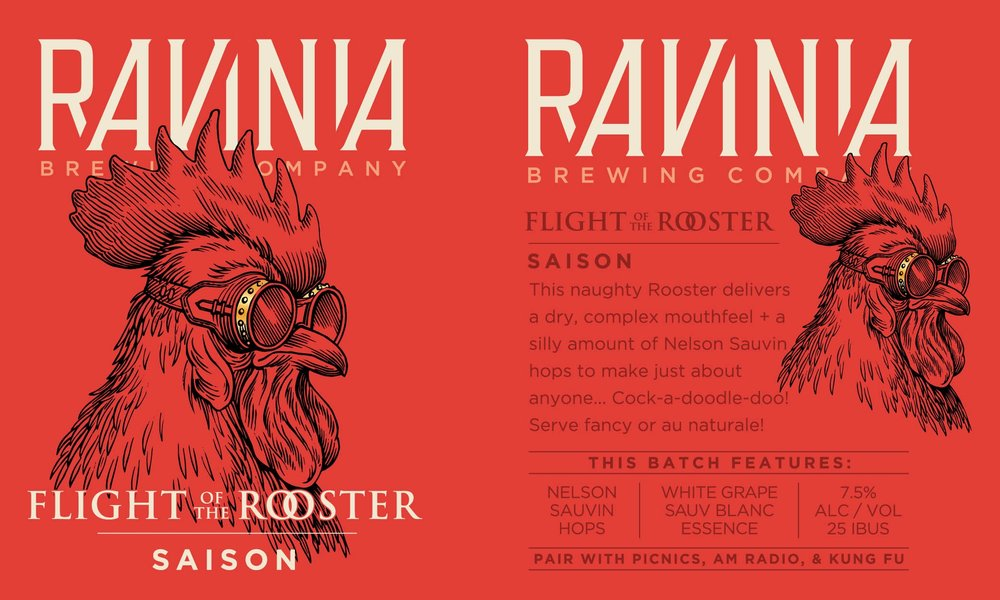 Ravinia Brewing_Poster_Flight Rooster Saison.jpg