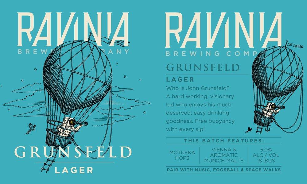 Ravinia Brewing_Poster_Grunsfeld Lager.jpg